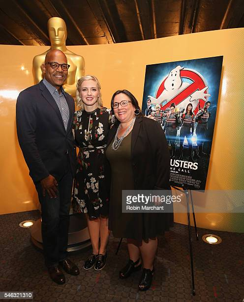 Patrick Harrison, Director of New York Programs Academy Of Motion Picture Arts, screenwriter Katie Dippold and Melissa Silverstein attend The Academy...