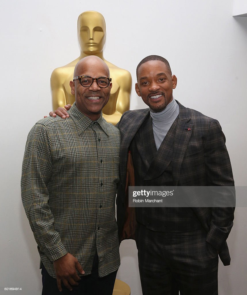 Patrick Harrison, Director of NY Programs and Membership Academy of Motion Picture Arts and Sciences (L) and Will Smith attend The Academy Of Motion Picture Arts And Sciences Hosts An Official Academy Screening Of CONCUSSION on December 16, 2015 in New York City.
