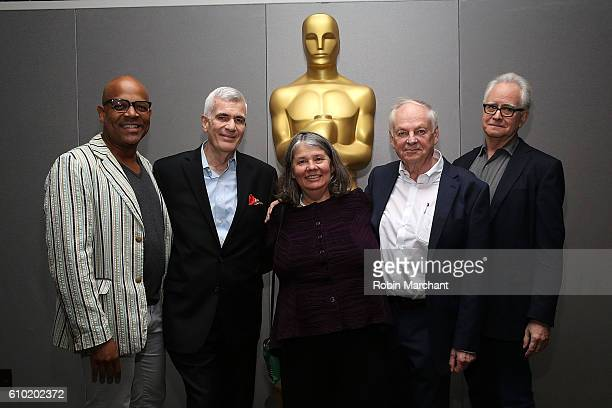 Patrick Harrison John Canemaker Imogen Sutton Richard Williams and Dave Kehr attend The Academy Of Motion Picture Arts And Sciences And The Museum Of...