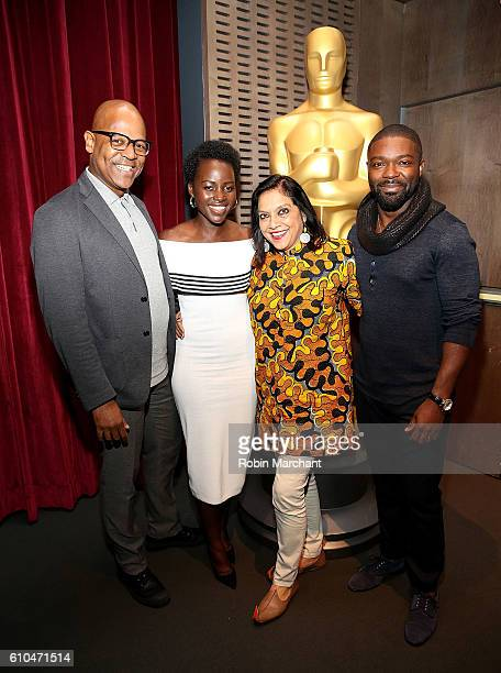 Patrick Harrison Mira Nair Lupita Nyong'o and David Oyelowo attend The Academy Of Motion Picture Arts And Sciences Hosts An Official Academy...