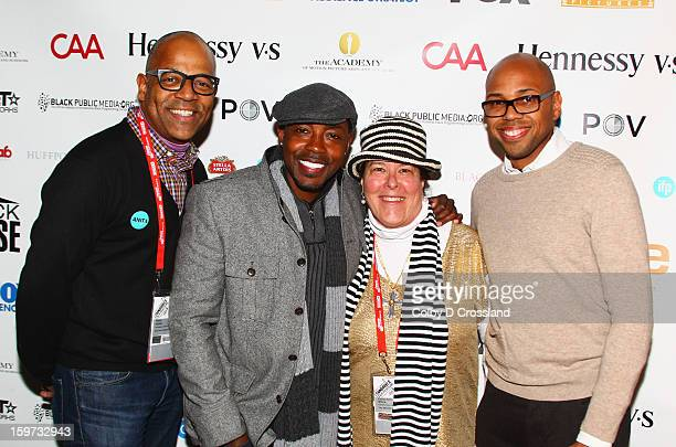 Patrick Harrison Will Packer Carol Ann Shine and Brickson Diamond attend The Academy And Blackhouse Partner on Talk with Filmmaker Will Packer At...