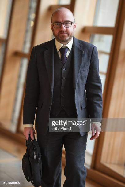 Patrick Harvie is the coconvener of the Scottish Green PartyÊattends first ministers questions in the Scottish Parliament on February 1 2018 in...