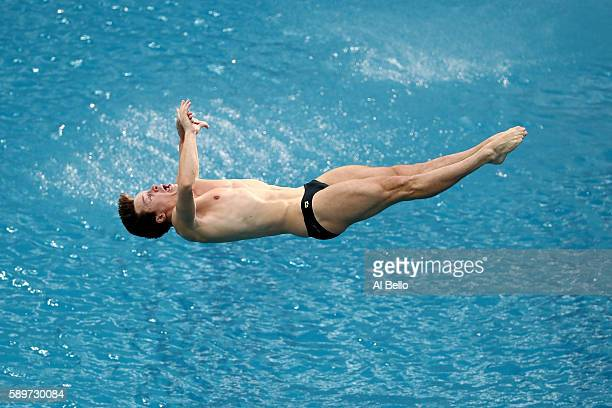 Patrick Hausding of Germany competes in the Men's Diving 3m Springboard Preliminary Round on Day 10 of the Rio 2016 Olympic Games at Maria Lenk...