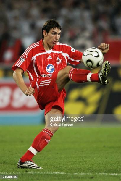 Patrick Helmes of Cologne runs with the ball during the Second Bundesliga match between 1.FC Cologne and Rot Weiss Essen at the RheinEnergie stadium...