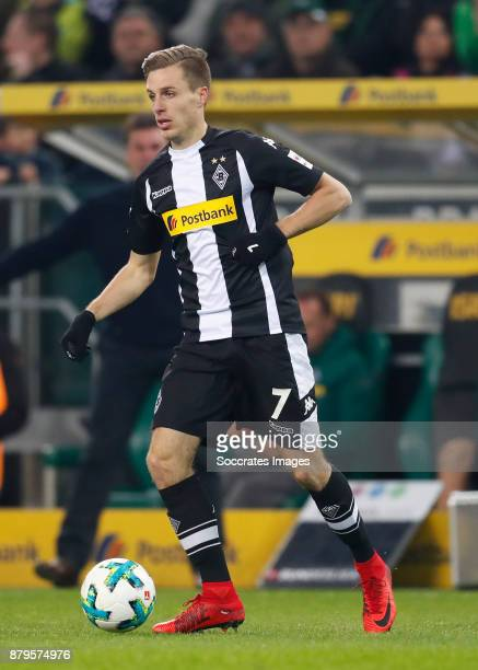 Patrick Hermann of Borussia Monchengladbach during the German Bundesliga match between Borussia Monchengladbach v Bayern Munchen at the Borussia Park...