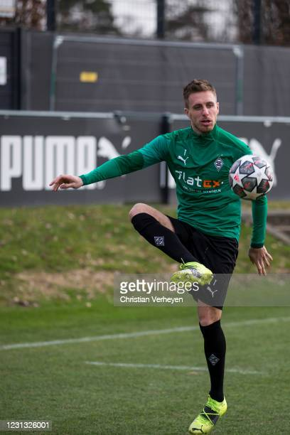 Patrick Herrmann in action during a Training session of Borussia Moenchengladbach at Borussia-Park on February 22, 2021 in Moenchengladbach, Germany.