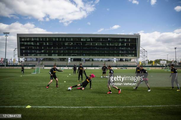 Patrick Herrmann of Borussia Moenchengladbach in action during a training session of Borussia Moenchengladbach at BorussiaPark on May 11 2020 in...