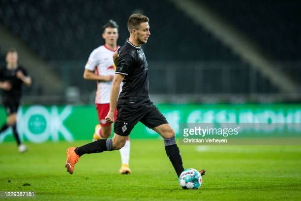 Patrick Herrmann of Borussia Moenchengladbach in action during the Bundesliga match between Borussia Moenchengladbach and RB Leipzig at BorussiaPark...