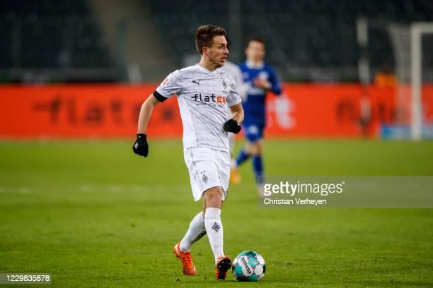 Patrick Herrmann of Borussia Moenchengladbach in action during the Bundesliga match between Borussia Moenchengladbach and FC Schalke 04 at...