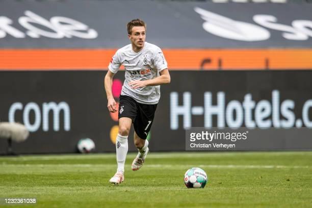 Patrick Herrmann of Borussia Moenchengladbach in action during the Bundesliga match between Borussia Moenchengladbach and Eintracht Frankfurt at...