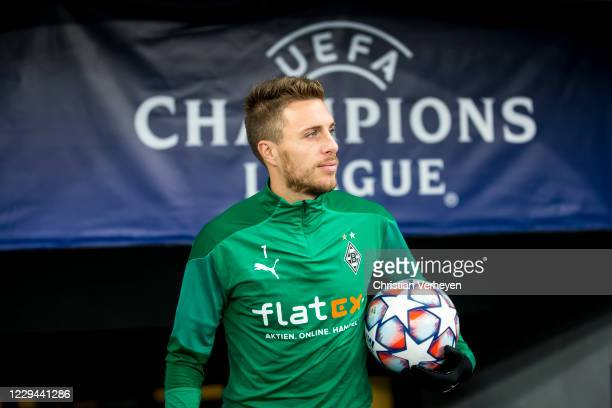 Patrick Herrmann of Borussia Moenchengladbach is seen before the Group B UEFA Champions League match between Shakhtar Donetsk and Borussia...