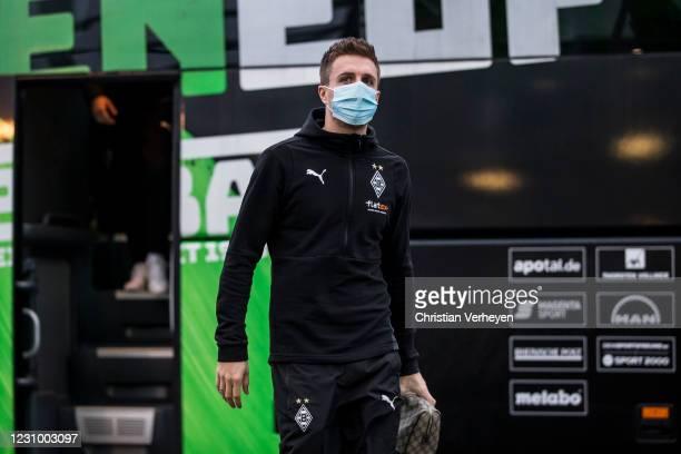 Patrick Herrmann of Borussia Moenchengladbach is seen before the Bundesliga match between Borussia Moenchengladbach and 1.FC Koeln at Borussia-Park...