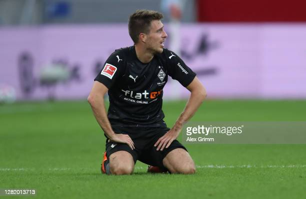 Patrick Herrmann of Moenchengladbach reacts after the Bundesliga match between 1 FSV Mainz 05 and Borussia Moenchengladbach at Opel Arena on October...