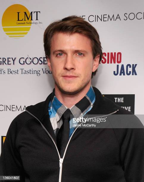 Patrick Heusinger attends The Cinema Society and The Creative Coalition screening of 'Casino Jack' at the Bryant Park Hotel on December 16 2010 in...