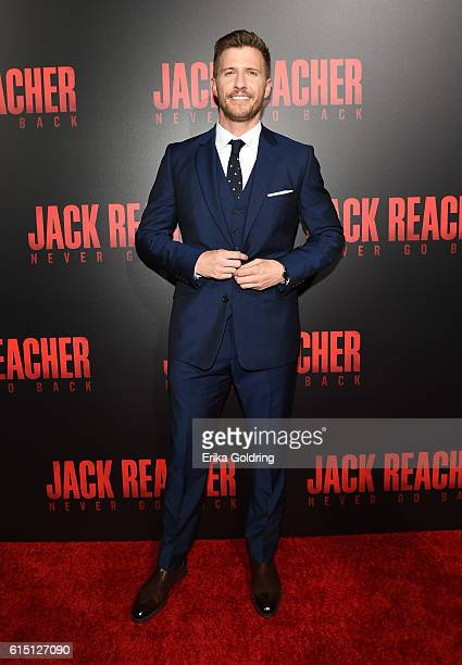 Patrick Heusinger attends the fan screening of the Paramount Pictures title 'Jack Reacher Never Go Back' on October 16 2016 at the AMC Elmwood in New...