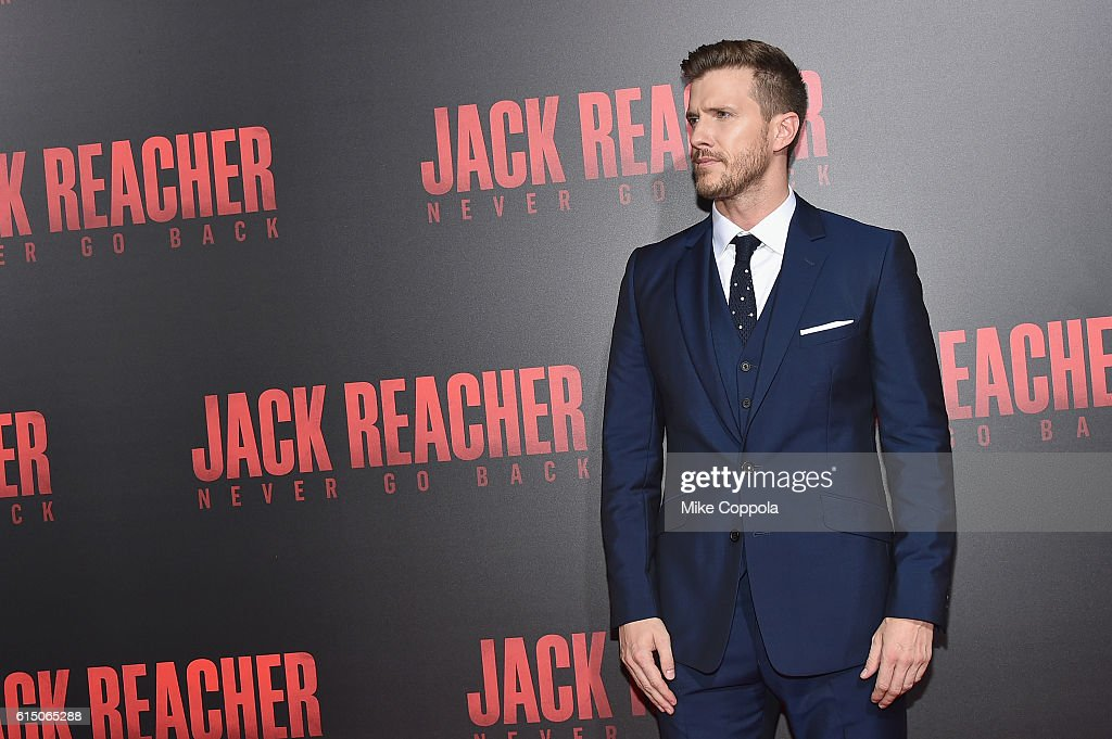 Patrick Heusinger attends the 'Jack Reacher: Never Go Back' Fan Screening at AMC Elmwood Palace 20 on October 16, 2016 in Harahan, Louisiana.