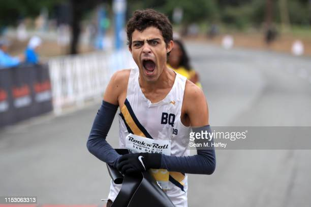 Patrick Hutton finishes in first place during the Synchrony Rock'n'Roll 5K Presented by Brooks on June 01 2019 in San Diego California