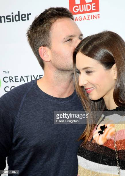 Patrick J Adams and Troian Bellisario at the Television Industry Advocacy Awards at TAO Hollywood on September 16 2017 in Los Angeles California