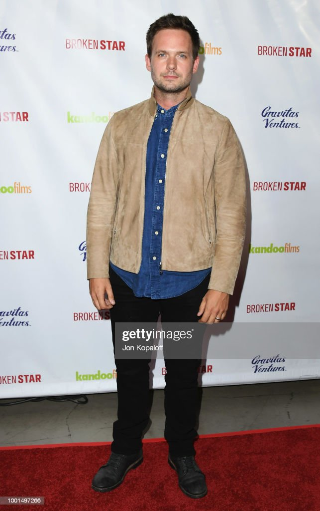 Patrick J. Adams attends premiere of Gravitas Ventures' 'Broken Star' at TCL Chinese 6 Theatres on July 18, 2018 in Hollywood, California.