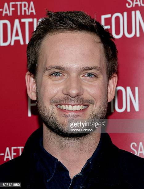 Patrick J Adams attends SAGAFTRA Foundation's conversations for 'Suits' at SAGAFTRA Foundation Screening Room on December 1 2016 in Los Angeles...
