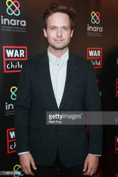 Patrick J Adams attends the Good For A Laugh comedy fundraiser to support children affected by war at Largo At The Coronet on March 01 2019 in Los...