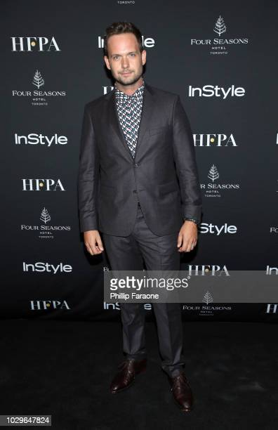 Patrick J Adams attends The Hollywood Foreign Press Association and InStyle Party during 2018 Toronto International Film Festival at Four Seasons...