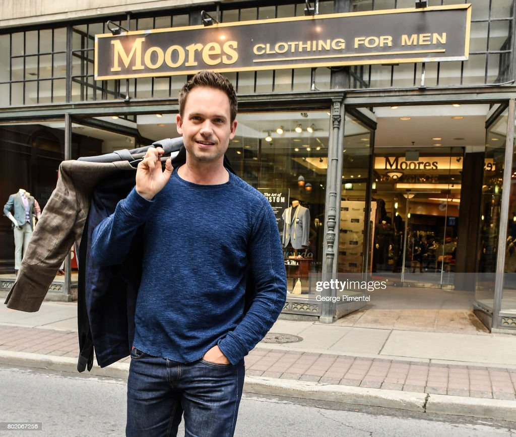 Patrick J. Adams Supports Moores Clothing For Men Canadian Suite Drive