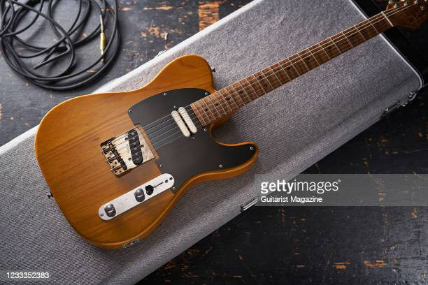 Patrick James Eggle Oz Cream T electric guitar with a Butterscotch finish, taken on February 25, 2020.