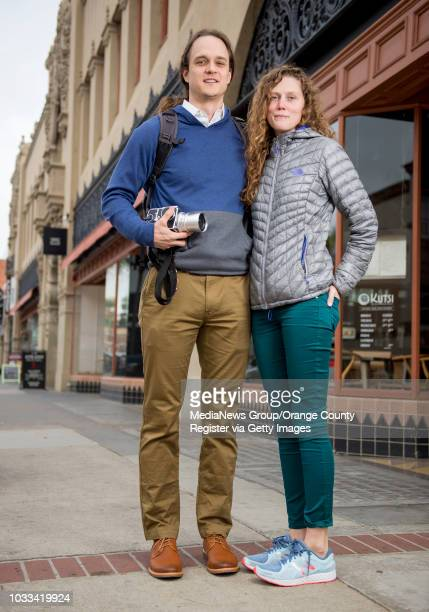 Patrick Jenkins and Emma Bixler of Baltimore tour the Artists Village in downtown Santa Ana Jenkins left whose luggage was lost on the flight did a...