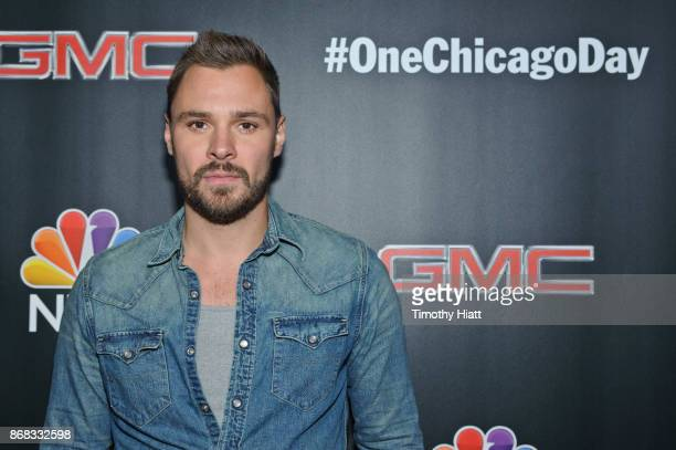 Patrick John Flueger attends the press junket for 'One Chicago' on October 30 2017 in Chicago Illinois