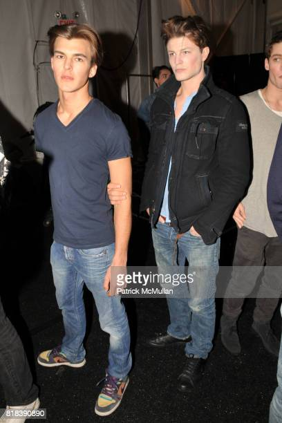 Patrick Kafka and Blake Kuchta attend PERRY ELLIS Fall 2010 Collection at The Promenade on February 15 2010 in New York City