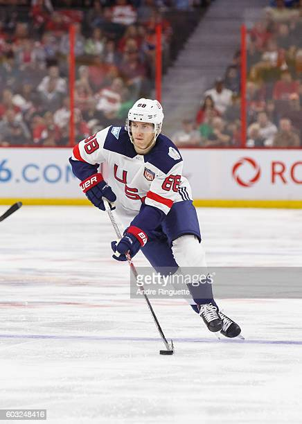 024a881b0 Patrick Kane of Team USA skates during the World Cup of Hockey 2016 PreTournament  game between