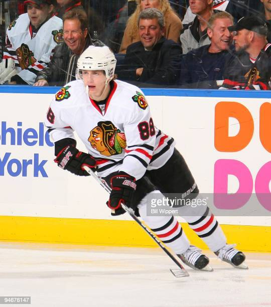Patrick Kane of the Chicago Blackhawks skates against the Buffalo Sabres on December 11 2009 at HSBC Arena in Buffalo New York