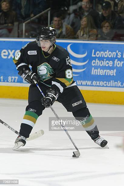 Patrick Kane of the London Knights skates against the Erie Otters at the John Labatt Centre on November 17 2006 in London Ontario Canada
