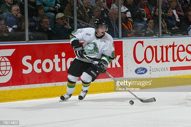 Patrick Kane of the London Knights skates in game against the Erie Otters played at the John Labatt Centre on January 12, 2007 in London, Ontario,...
