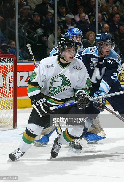 Patrick Kane of the London Knights skates in game against the Toronto St Michael's Majors played at the John Labatt Centre on January 262007 in...