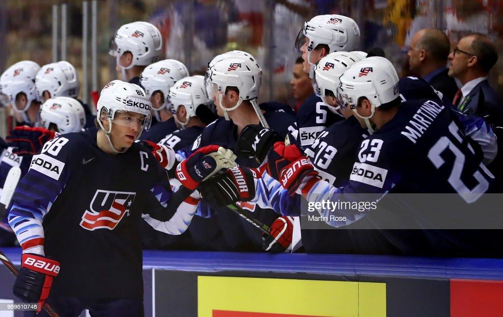 USA v Czech Republic - 2018 IIHF Ice Hockey World Championship Quarter Final : Nachrichtenfoto