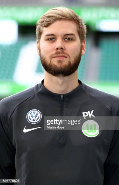 Patrick Kasprowski of VfL Wolfsburg poses during the team presentation at on September 13 2017 in Wolfsburg Germany