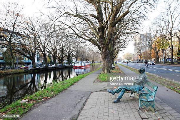 Patrick Kavanagh Statue, Grand Canal, Dublin, Ireland