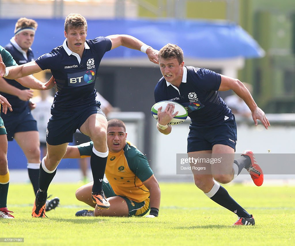 Scotland V Australia World Rugby: Patrick Kelly Of Scotland Breaks With The Ball During The