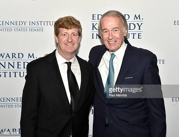 Patrick Kennedy and Ed Markey attend the Edward M Kennedy Institute for the US Senate Opening Night Gala and Dedication on March 29 2015 in Boston...