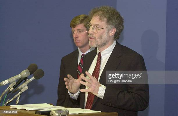 Patrick Kennedy DRI and Bob Bower lawyer for the DCCC during a press conference at the DNC headquarters on the RICO suit against Majority Whip Tom...