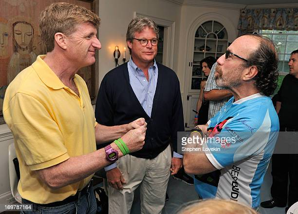Patrick Kennedy Edward M Kennedy Jr and Producer Bernie Yuman attend the Best Buddies Challenge Hyannis Port After Party on June 1 2013 in Hyannis...