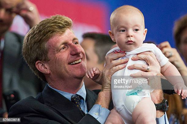 Patrick Kennedy son of the late Senator Ted Kennedy with his son Owen Patrick Kennedy at the Democratic National Convention in Charlotte North...