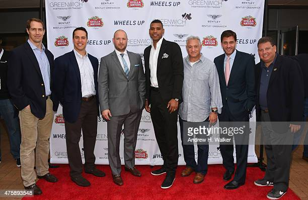 Patrick Kerney Mark Teixeira Ryen Russillo Allan Houston Cary Woods Mike Greenberg and Gary Spitalnik attend Greenwich Film Festival 2015 Sports Guys...