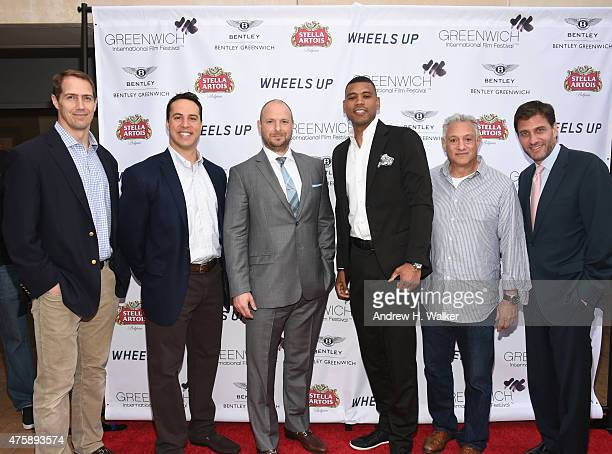 Patrick Kerney Mark Teixeira Ryen Russillo Allan Houston Cary Woods and Mike Greenberg attend Greenwich Film Festival 2015 Sports Guys On Sports...