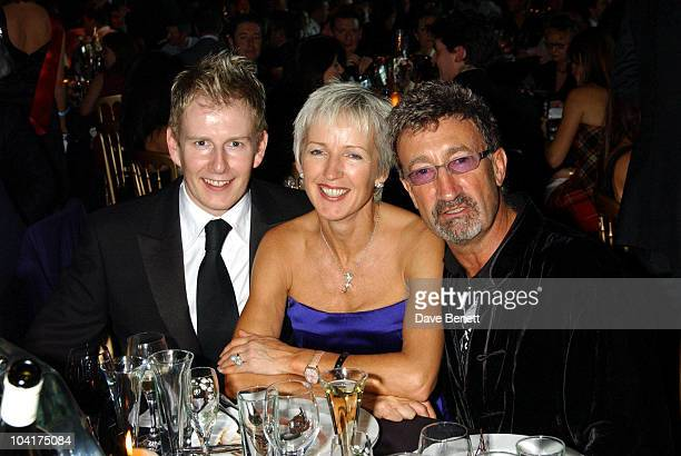 Patrick Kielty With Eddie And Marie Jordan La Dolca Vita Christmas Party At The Honorable Artillery Company London