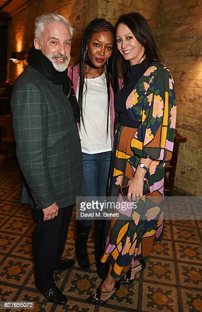 Patrick Kinmonth Naomi Campbell and Caroline Rush attend The Fashion Awards in partnership with Swarovski nominees' lunch hosted by the British...