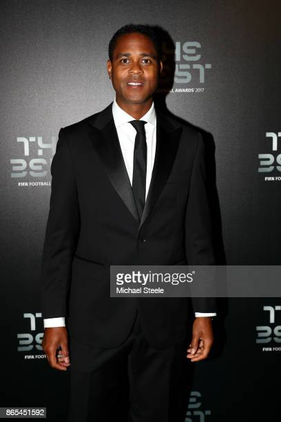 Patrick Kluivert arrives for The Best FIFA Football Awards Green Carpet Arrivals on October 23 2017 in London England
