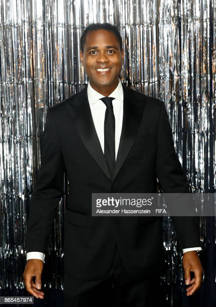 Patrick Kluivert is pictured inside the photo booth prior to The Best FIFA Football Awards at The London Palladium on October 23 2017 in London...